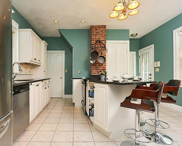 kitchen with painted walls