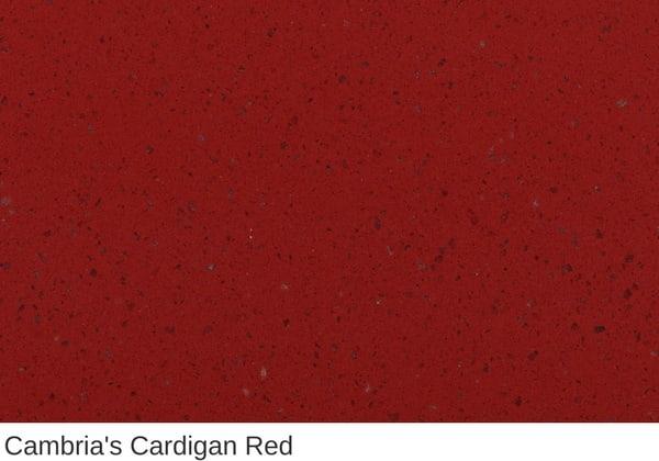 Cambria Quartz Cardigan Red