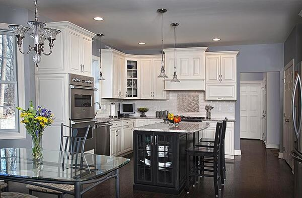Gray Painted Kitchen Walls