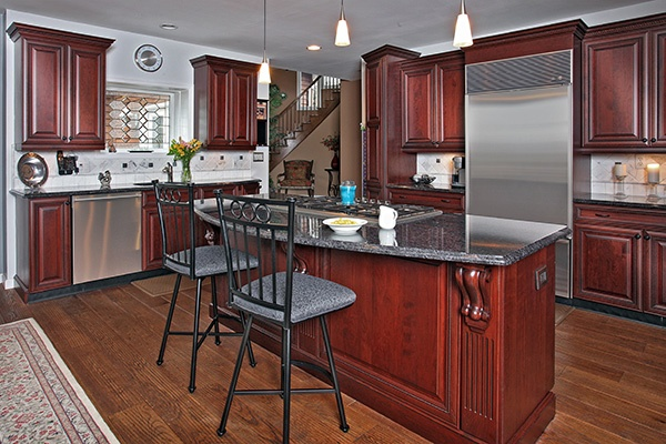 Furniture-Grade Cherry Wood Kitchen Cabinetry