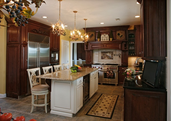 Island and Cabinet Combination