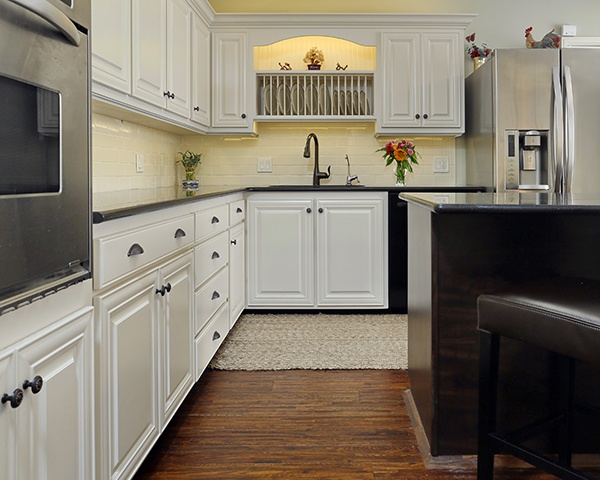 White Kitchen with Accent Lighting