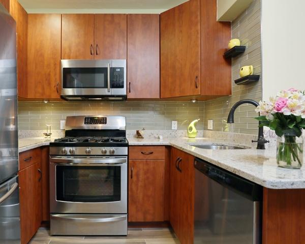 Small Kitchen with Quartz Countertop