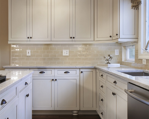 White Cabinets with Oil Rubbed Bronze Hardware