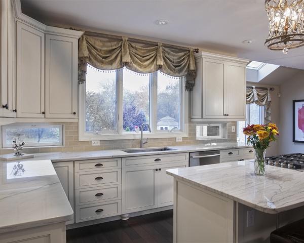 White Kitchen with Backsplash Windows