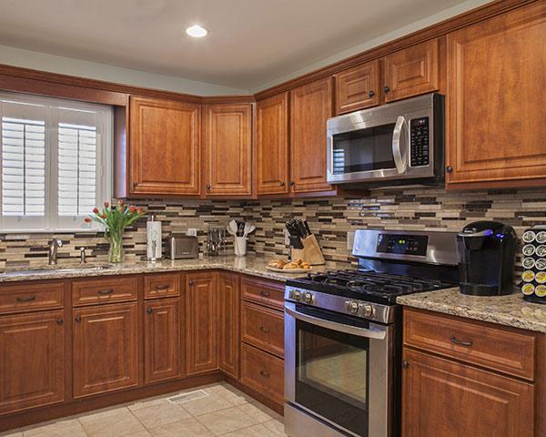 Cherry Laminate Kitchen Cabinets