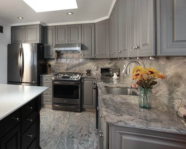 Granite Sheet Backsplash