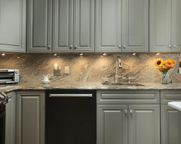 Grey Kitchen with Under Cabinet Lighting