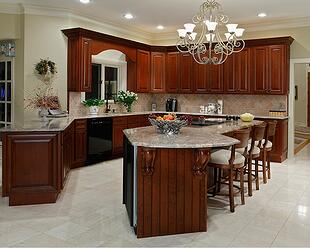 kitchen island cabinets and countertop