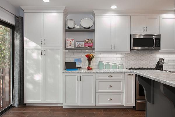 white cabinets small kitchen