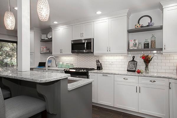 White Furniture-Grade Shaker Cabinets