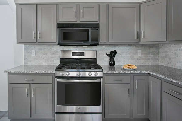 high quality laminate gray shaker cabinets