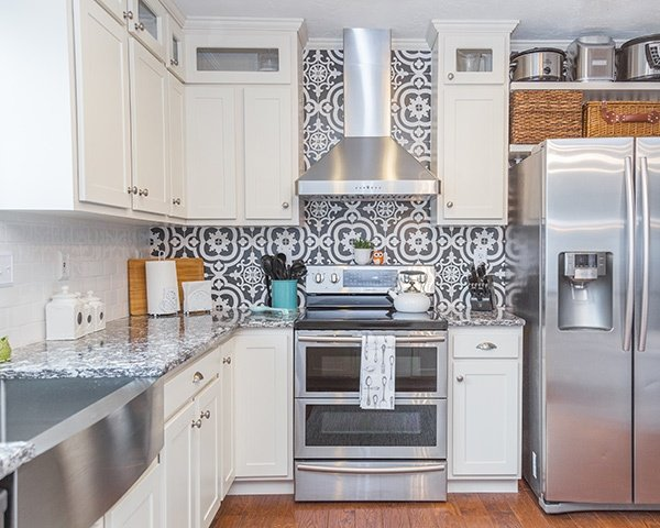 Kitchen with Morrocan Tile Backsplash