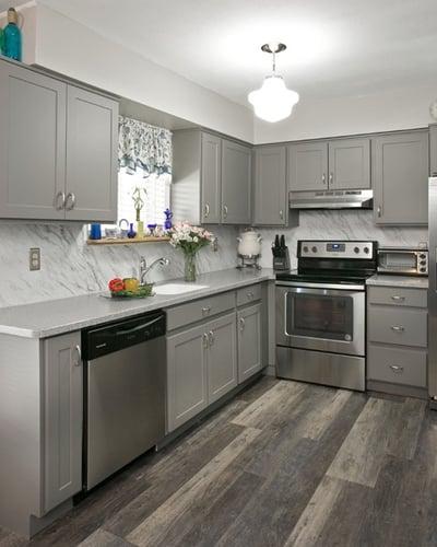 Rustic Hardwood Kitchen Flooring