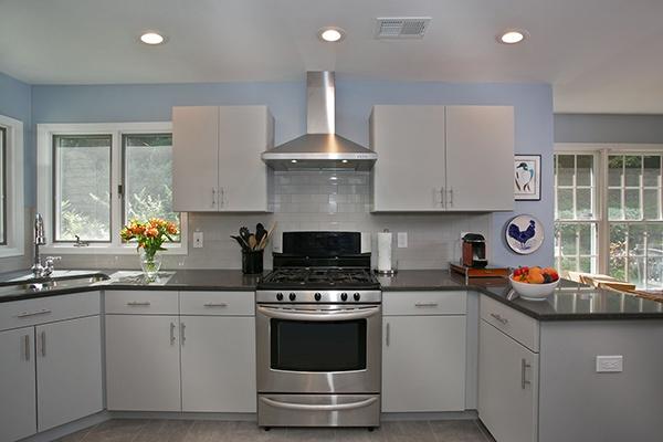 Cabinet Resurfacing Gray Kitchen
