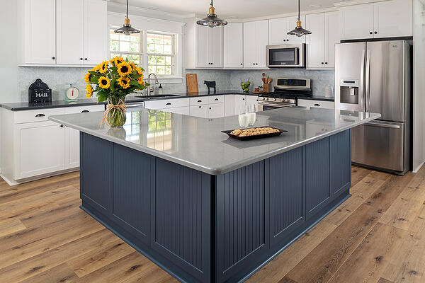 two toned refaced kitchen