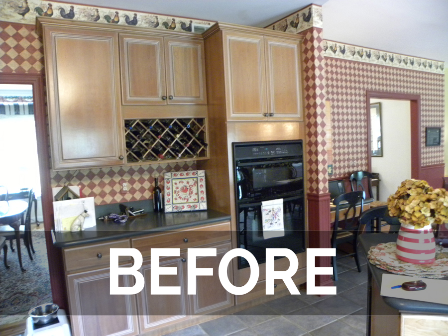cabinet refacing before