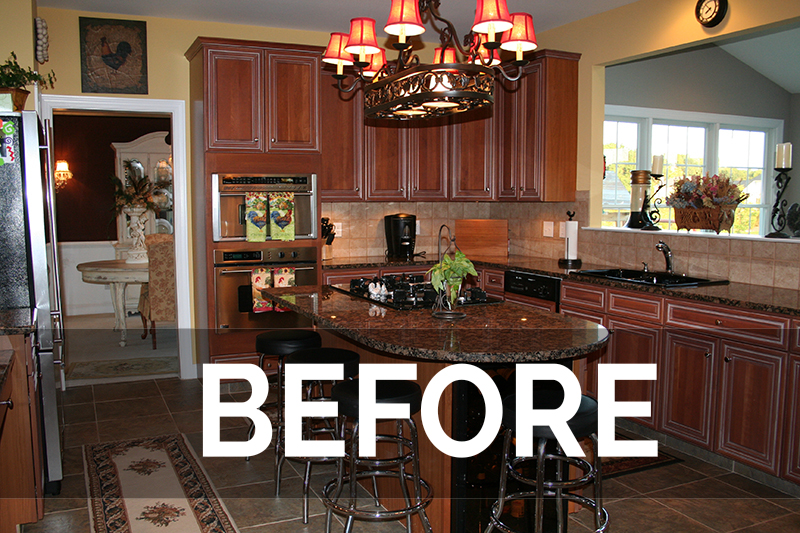 refaced kitchen transformation before