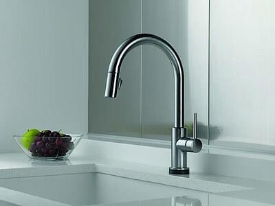 touch operated faucet accessible kitchen design