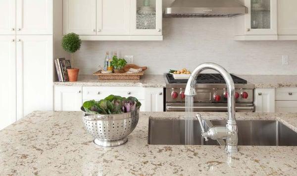 White Kitchen Cabinets And Countertops, White Kitchen Cabinets And Quartz Countertops