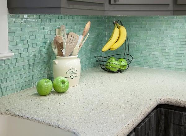 Glass-colors tiles for kitchen backsplash
