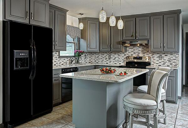 Suede Gray Kitchen Design