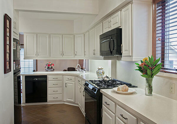 White Kitchen with Laminate Countertop