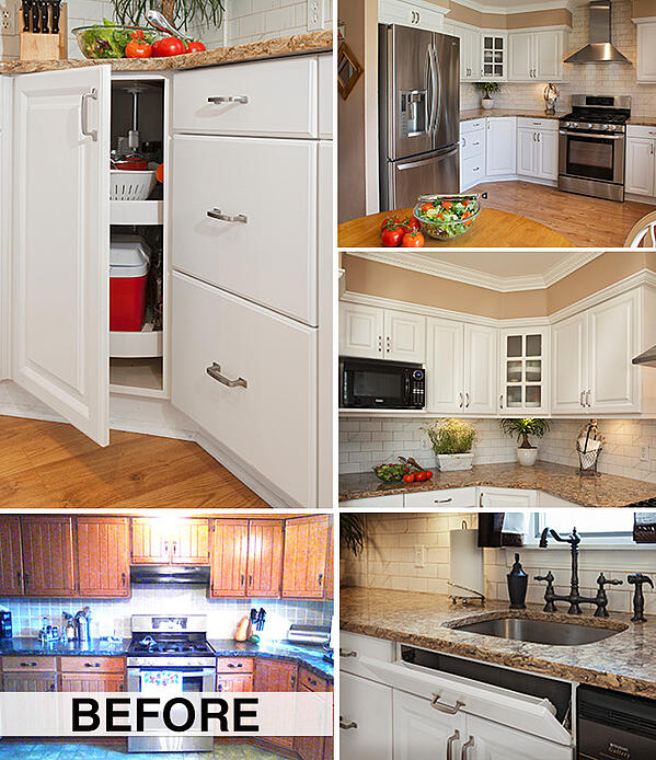 Cottage Style Kitchen Design - Before and After
