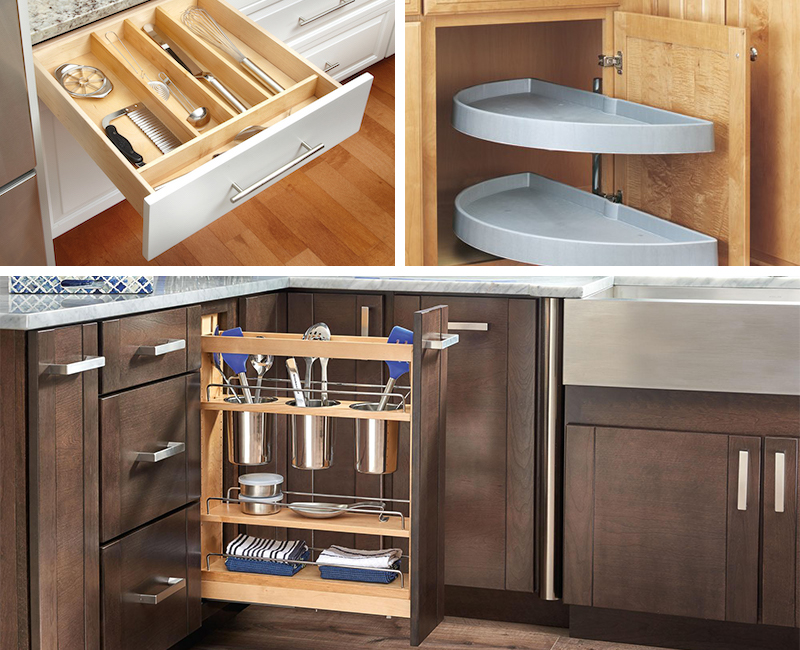 Pull Out Spice Rack Cabinet Storage