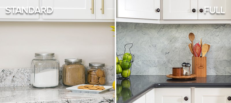 Standard vs. Full Height Backsplash