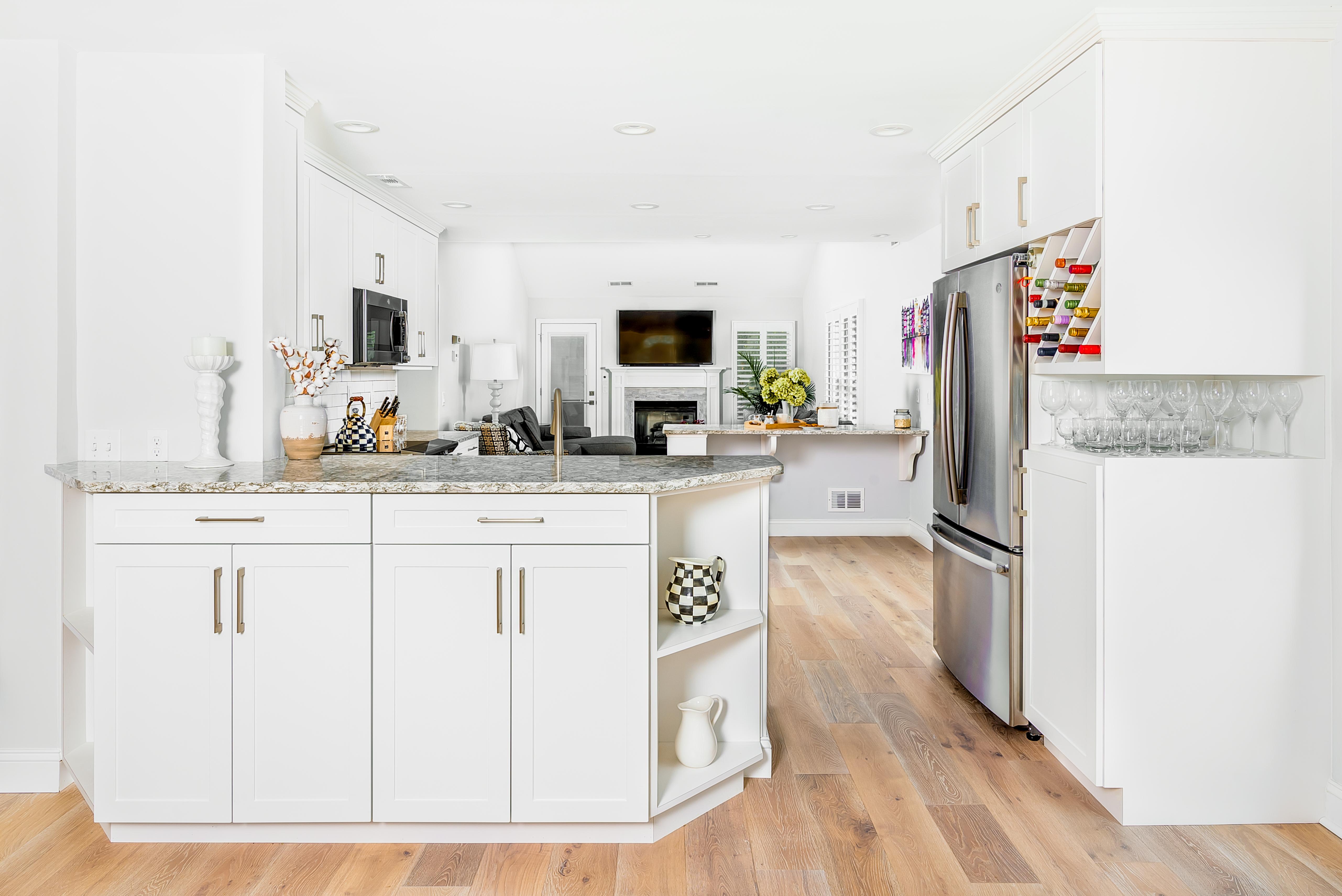 Modern Kitchen with Skylights
