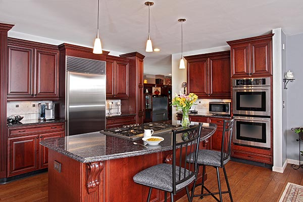 Cherry Kitchen with Dark Finishes
