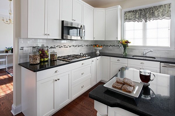 double eased edge quartz countertop