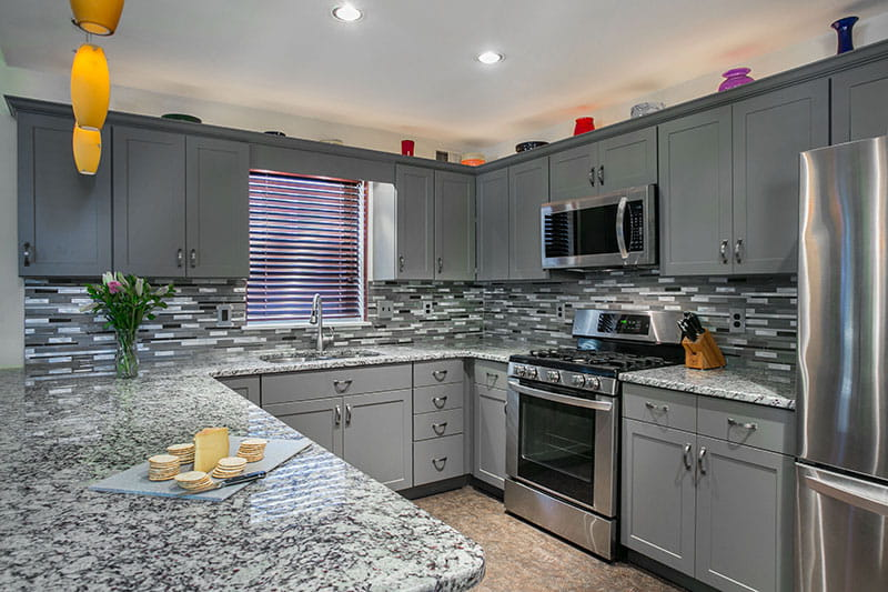 perfect-countertop-gray-cabinets-main Kitchen Ideas With Grey Counter on kitchen with grey granite, kitchen with grey ceiling, kitchen with grey accessories, kitchen with grey backsplash, kitchen with grey marble, kitchen with grey tile, kitchen with grey walls, kitchen with grey flooring, kitchen with grey paint,