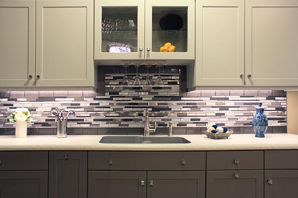Gray Kitchen with Cabinet Lighting