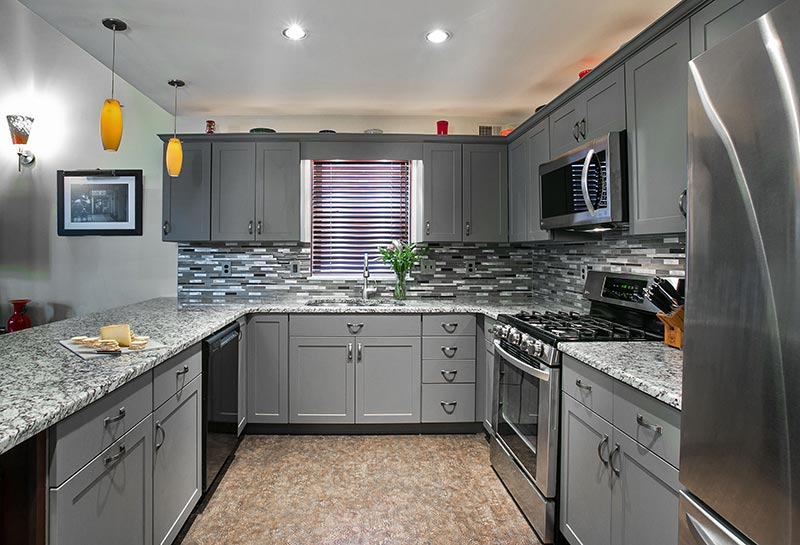 Gray kitchen cabinet design