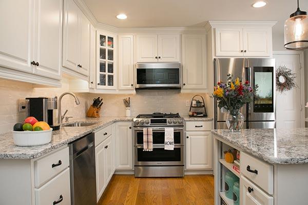 White Kitchen with Under Cabinet Lighting