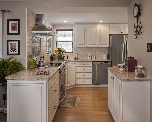 Winter White Kitchen Remodeled by Cabinet Refacing