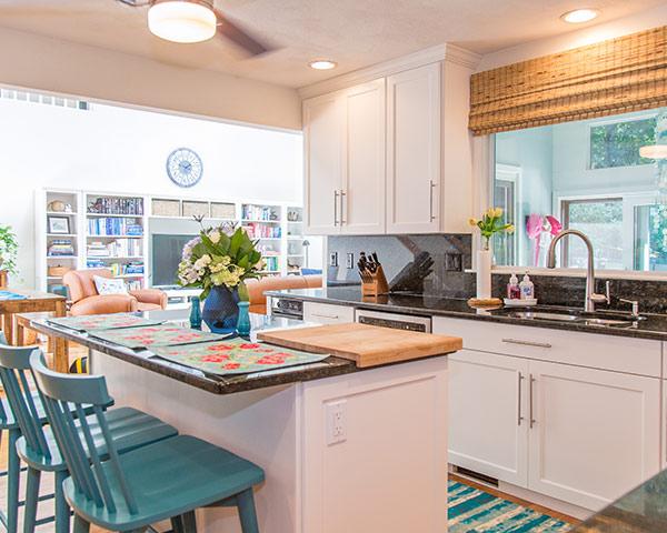 White Open Floor Concept Kitchen