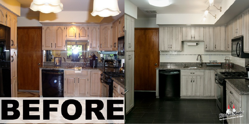 Before and After Barnswood Kitchen Redesign
