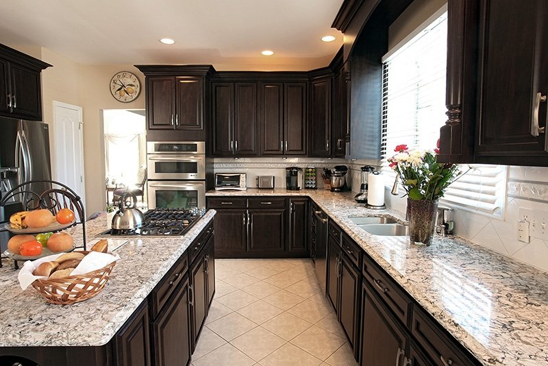 The Perfect Transitional Kitchen Design In Chocolate Pear