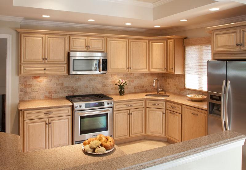 desert-sand hued kitchen