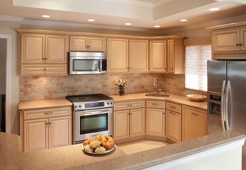 desert-sand hued kitchen