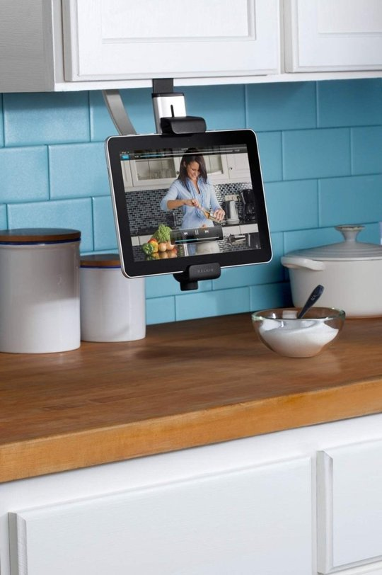 Tablet Holder in the Kitchen