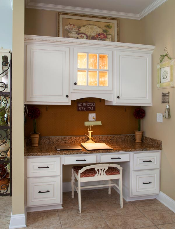 Small Home Office In The Kitchen