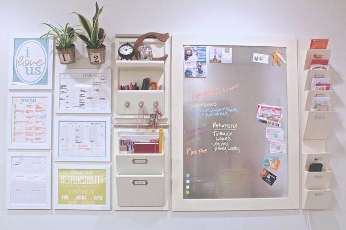 Kitchen Message Center